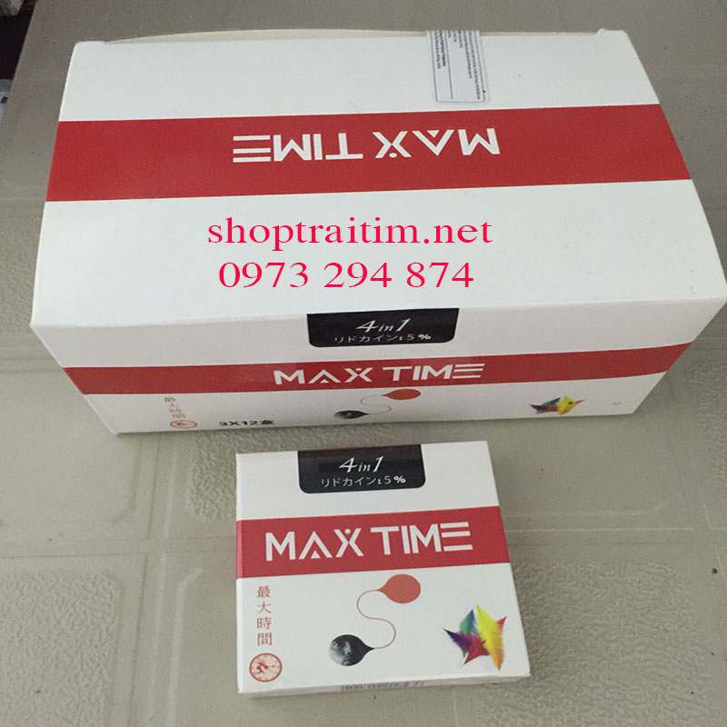 BAO CAO SU CHỐNG XUẤT TINH MAX TIME 3 HỘP