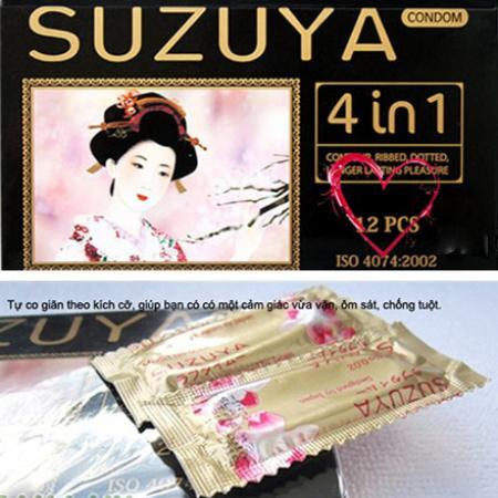 Phân phối 3 Bao cao su Suzuya 4 in 1
