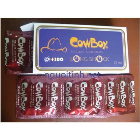 Phân phối 3 HỘP bao cao su Cowboy 12 PCS