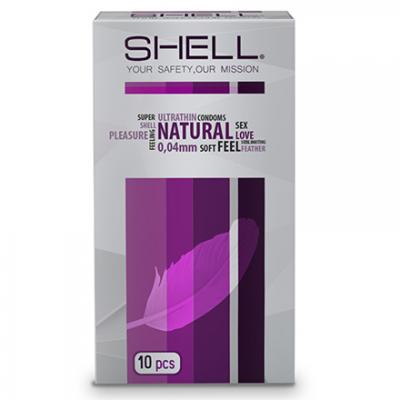 Phân phối 3 hộp Bao cao su Shell Natural 0.04 10s