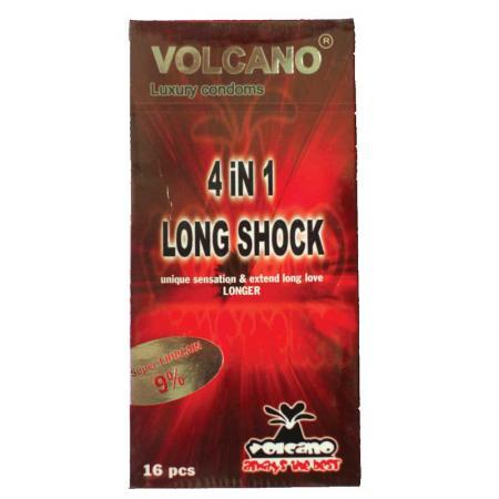 Phân phối 3 HỘP bao cao su Volcano  4in1 16 Cái