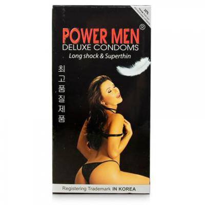 Phân phối 5 Hộp Bao cao su Power Men Long Shock and Super Thin