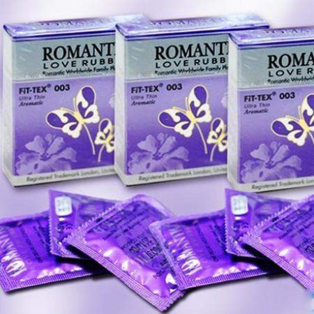 Phân phối 5 hộp BAO CAO SU ROMANTIC FIT-TEX 003 SIÊU MỎNG