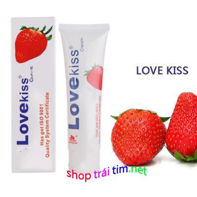 Phân phối Gel bôi trơn hương dâu cao cấp Love Kiss